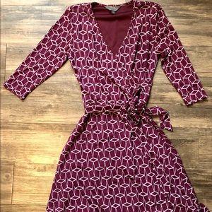 41 Hawthorn Plum Faux Wrap Dress